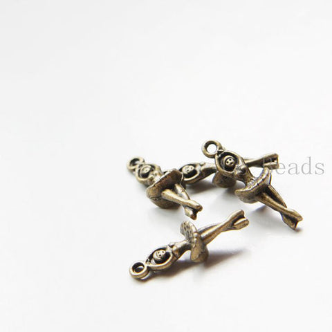 Base Metal Charms-Dancer 23.5x8mm (17824Y)