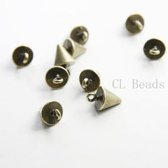 Base Metal Charm - Conical or Spikes 15x9mm (35464Y)
