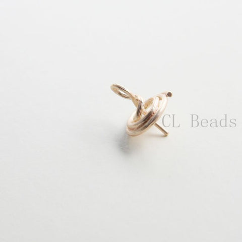 Brass Base Glue On Findings-Cap 16x12mm (8700C)