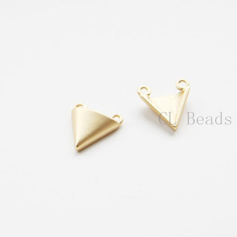 Base Metal Charms- Triangle - 14x12mm (491C)