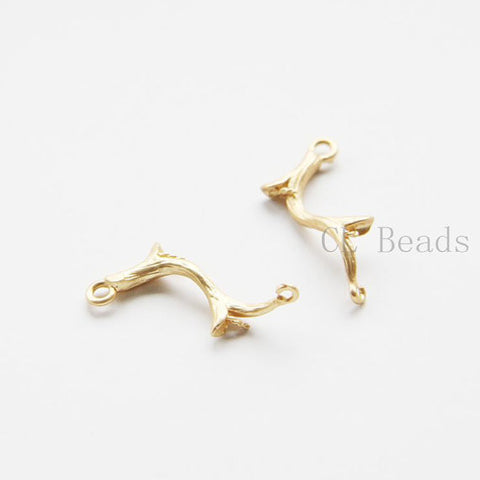 Brass Base Links- Branch - 25x11mm (462C)