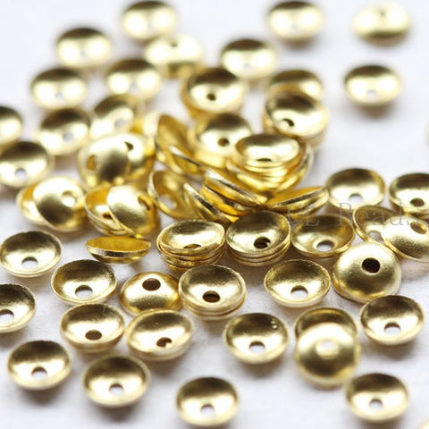Brass Base Bead Caps-4mm (497C)