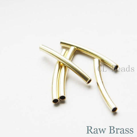 Brass Base Curved Tube 3x30mm with ID 2.3mm (1682C)