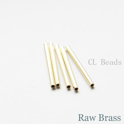 Brass Base Tube 2x25mm with ID 1.4mm (1684C)