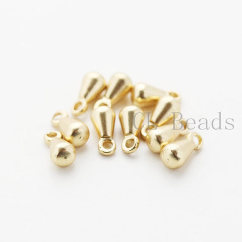 Brass Base Charms - Teardrop 6x3mm (505C)