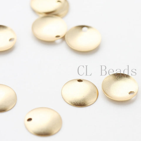 Brass Base Curved Tags - Round 10mm (501C)