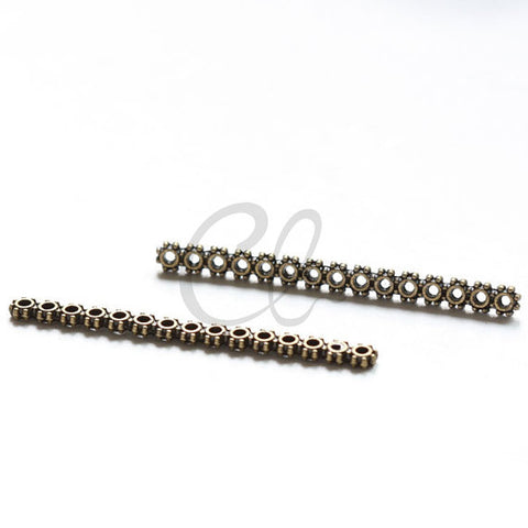 Base Metal 15 Holes Daisy Spacer - 46x4mm (35947Y)