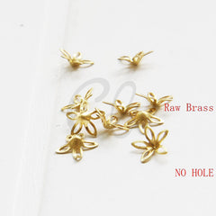 Brass Base Bead Cap with NO HOLE - Flower Cap 9mm (2010C)