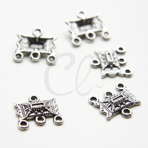 Base Metal 1 to 3 Earring Component - 16x14.7mm (5145Y)