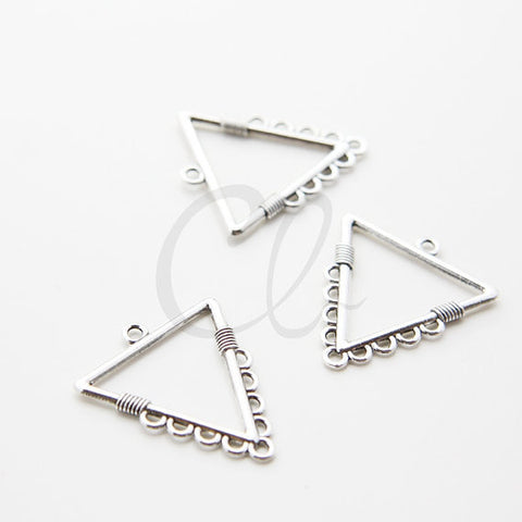 Base Metal 9 to 1 Earring Component - Triangle 28.4x32mm (58X)