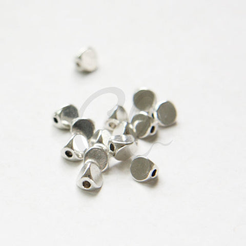 Base Metal Faceted Spacer - Triangle 5x5mm (16597Y)