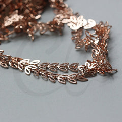 Brass Base Chain-Leaf 7.1x6.1mm (3372C)