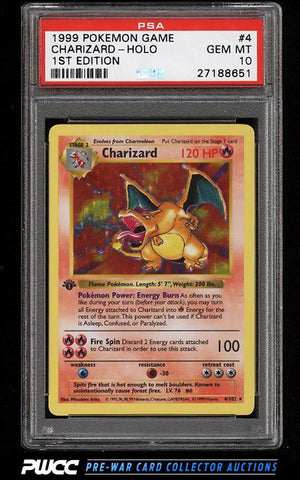 1999 First Edition Holographic Charizard Card