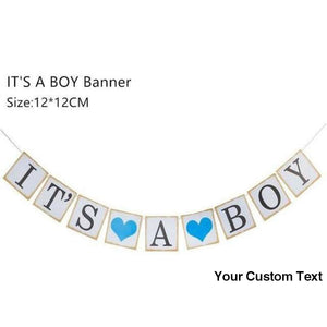 Cornflower Blue Baby Shower Decorations It's A Boy Girl Banner Gender Reveal Oh Baby Balloon Birthday Party Decorations Kids Supplies