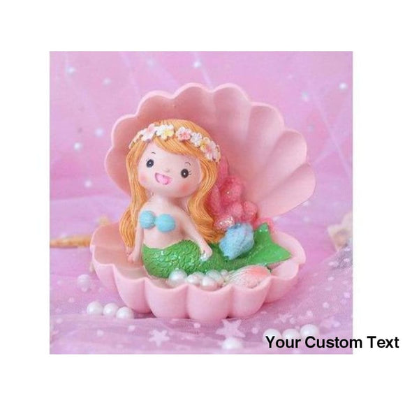 Maroon New Mermaid Cake Topper Mermaid Party Decoration Kids Favors Boy & Girl Baby Shower Happy Birthday Cake Decoration Party Supplies