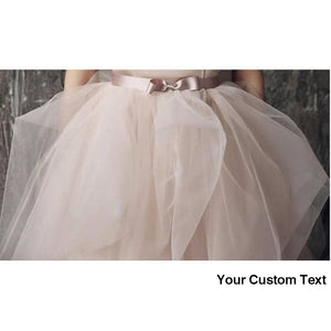 Gray Powder Pink Very Lush Ruffles Pretty Tulle Skirt Bridal Wedding With Ribbon Sash Other Colors and Sizes. please ask