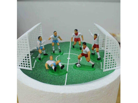Sea Green 8Pcs/Set Soccer Football Basketball Cake Topper Kids Cupcake Decoration Happy Birthday Cake Topper Party Supplies Baby Children Party Decor