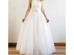 Antique White White/Ivory Tulle Long Skirt High Waist 5 Layers Floor Length Bridal Wedding Skirt More Colors, Sizes. please ask