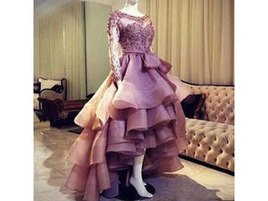 Slate Gray Dusty Pink Ruffles High Low Organza Skirt Puffy Long Bridal Skirt With Sash Bow Custom Made Many Colors