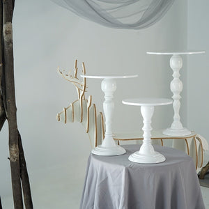 SWEETGO High Feet Cake Stand Candle Holder 8/10/12 Inch White Wedding Table Decorating Party Suppliers for Fondant Dessert