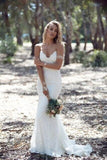 Gray Long Lace Wedding Gown Mermaid Backless Spaghetti Straps Bridal Dress Custom Made robe de mariage