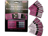 Maroon Set of 12pcs Bachelorette Party Accessories Girls Party Dare Game Scratch Cards Wedding Party Bridal Shower Decoration
