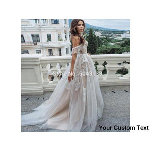 Dark Gray Sweetheart Lace Appliques A Line Wedding Dresses Tulle Off Shoulder Sleeveless Wedding Gowns for Bride Formal Dress