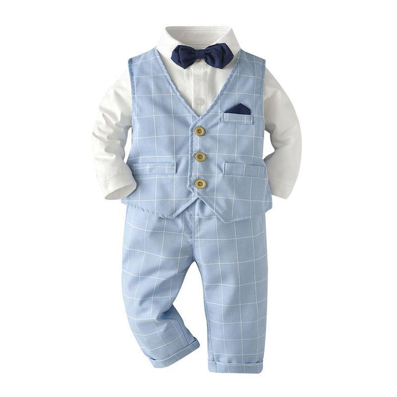 blue baby boys clothes suit