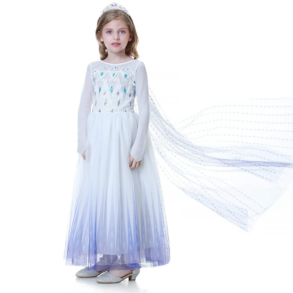 Little Girls Long-sleeve Princess Dresses Costumes,Size:4-12 Years