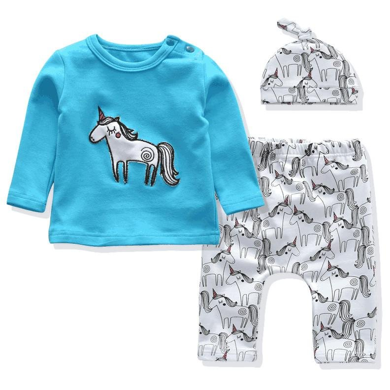 baby long sleeve tshirt pants hat sets