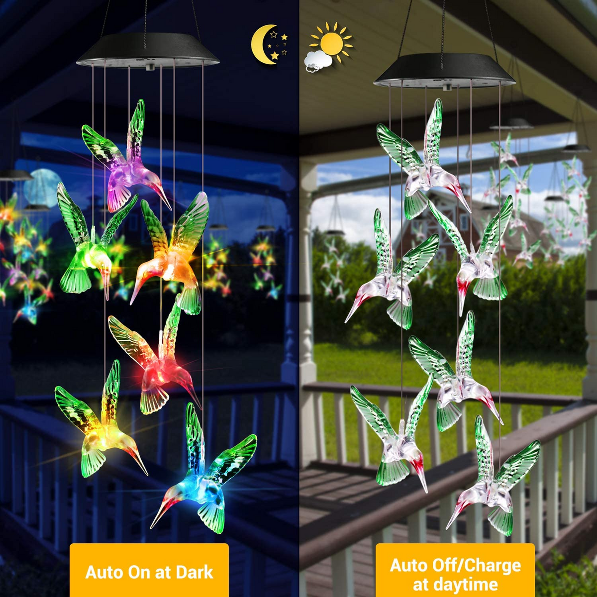 Chimwow - Color-Changing Wind Chimes