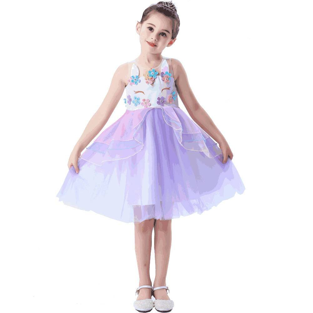 Purple Unicorn Princess Dress