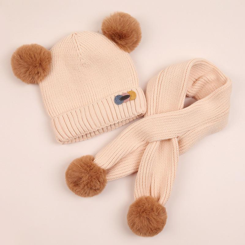 Baby Boys and Girls Soft Warm Knitted Hats Scarf Sets,Free Size 6-24 Months,6 Color