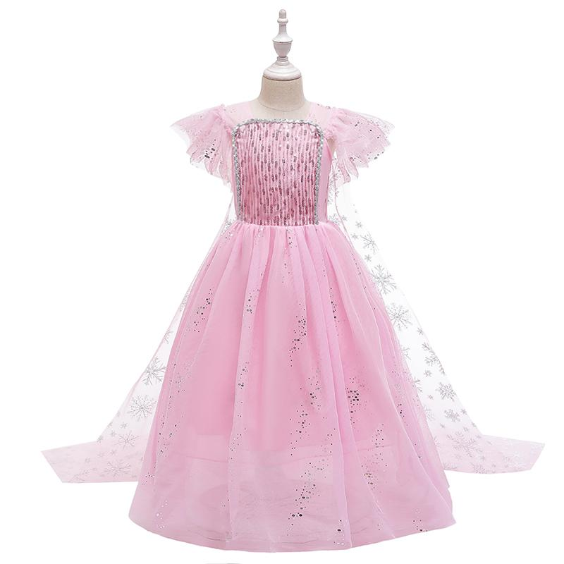 2020 New Little Girls Princess Dresses Up Size 4-11 Years,3 Color