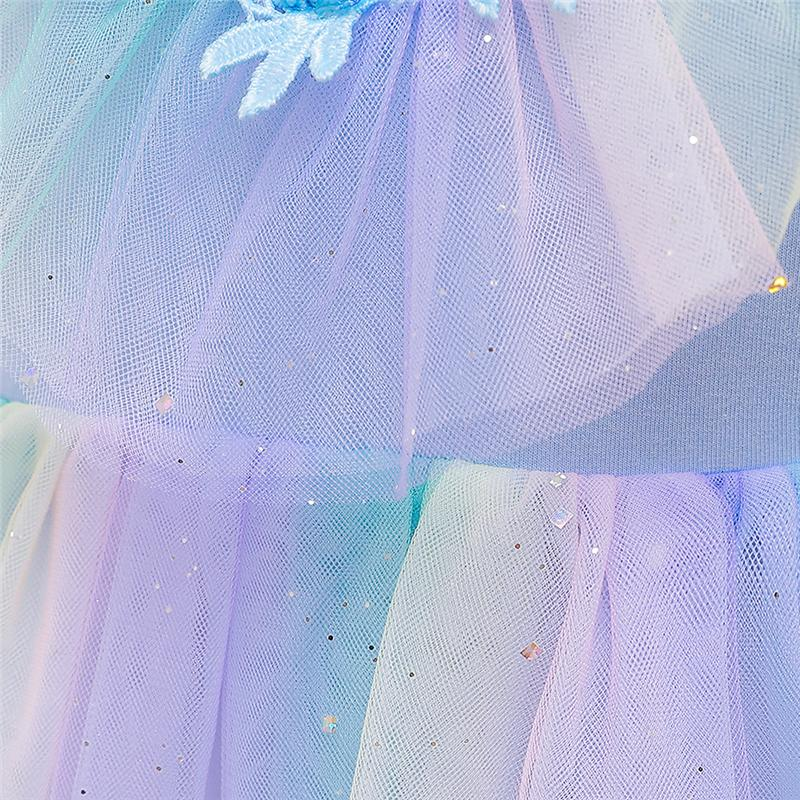 4-12 Years Girls Mesh Princess Dress Costumes BX1681 2 Color
