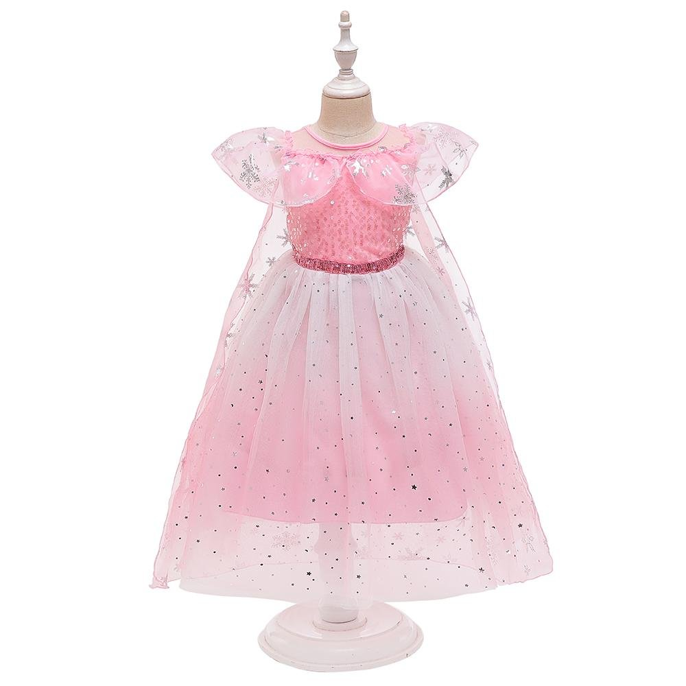 Little Girl Mesh Princess Dress Girls Costumes Size 4-12 Years Color Pink,Blue