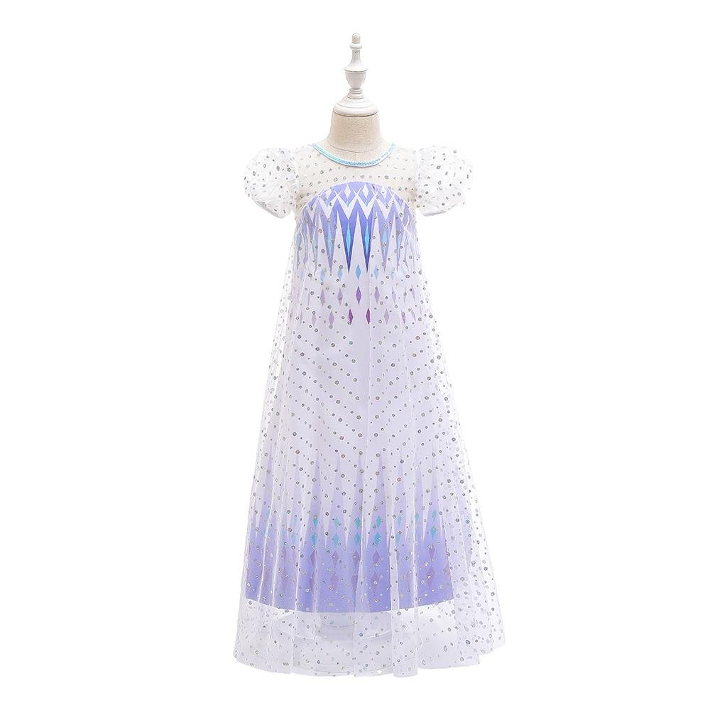 BX1702 4-12 Years Girls Princess Dress Up Costumes 2 Color Blue Purple