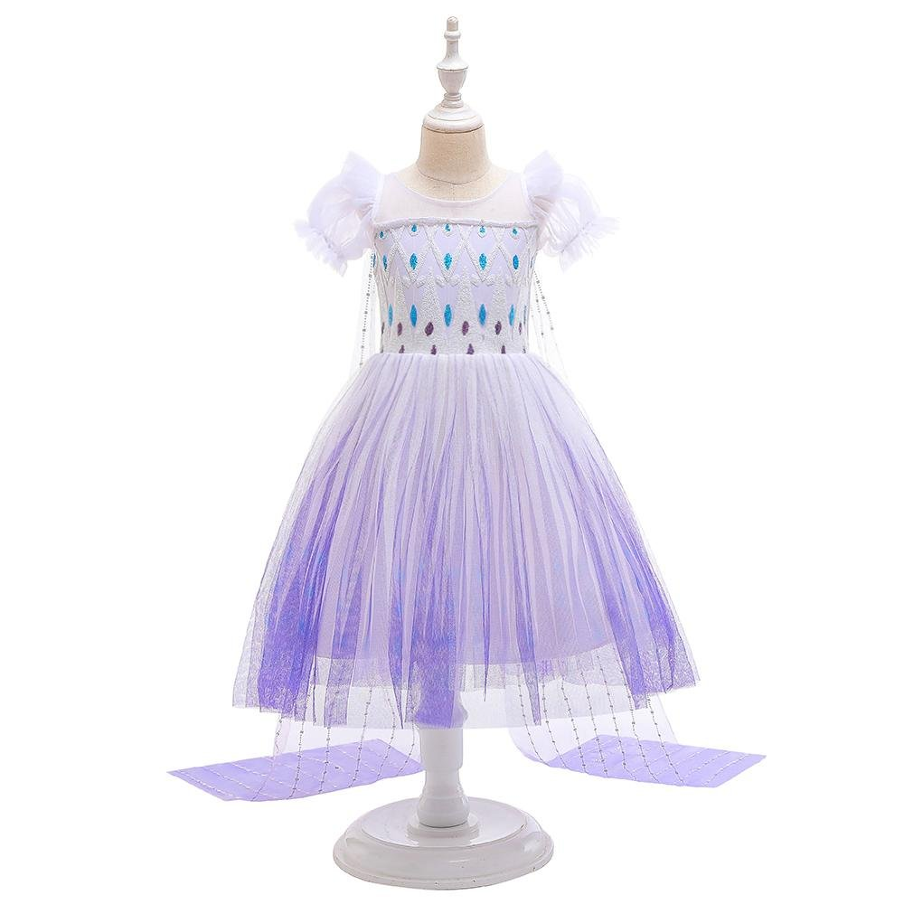 Girl's Princess Dress Up Costumes With Cloak Size 4-12 Years