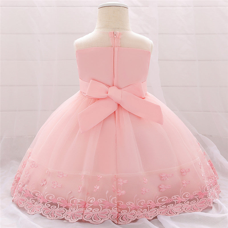 Baby Gilr's First Princess Occasion Dress,4 Color (3-24 Month)