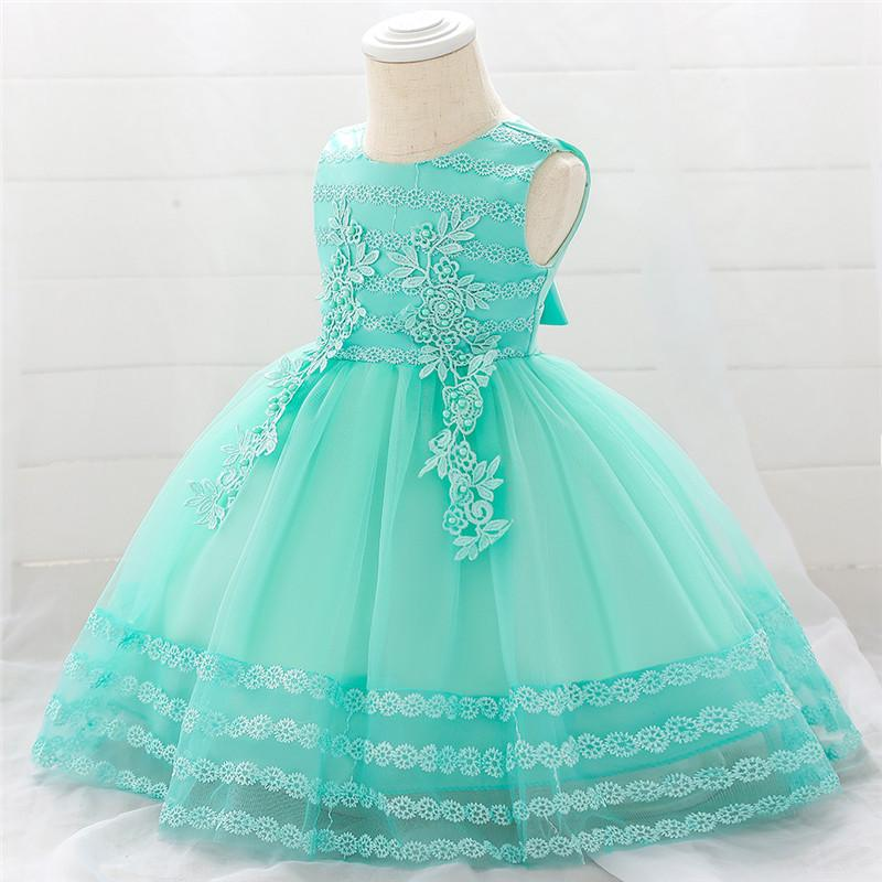 Baby Gilr's First Embroidered Princess Dress,5 Color (3-24 Month)