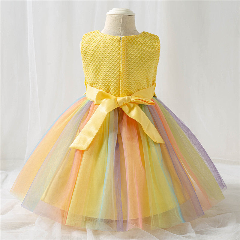 Baby Gilr's First Princess Dress,4 Color (3-24 Month)