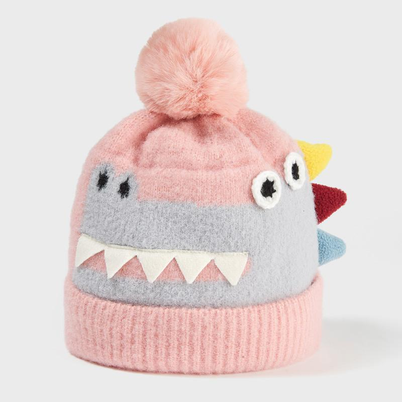 Cute Toddler Boys and Girls Soft Warm Knitted Dinosaur Hats,1-3 Years