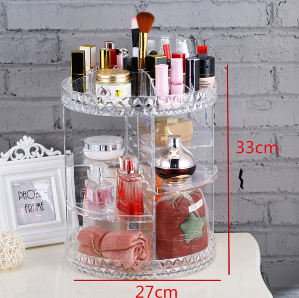 Large Diamond Clear Acrylic Makeup Organiser