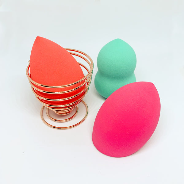 Flamingo Trio Makeup Sponge Set with Sponge Holder