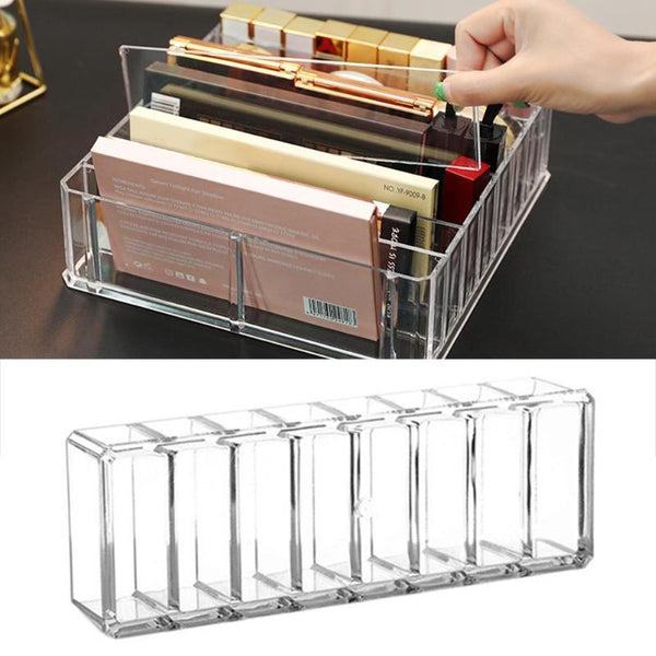 Clear Acrylic 8 Grid Makeup Pallette Organiser - Organise my makeup