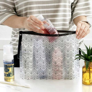 Clear Pattern Cosmetic Toiletry Makeup Travel Bags - Organise my makeup