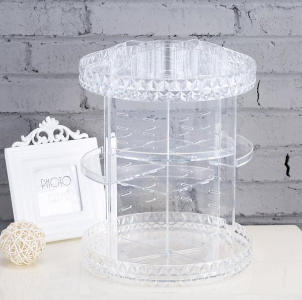 Diamond Clear Acrylic Makeup Organiser - Organise my makeup