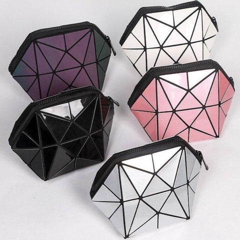 Geometric Cosmetic Makeup Bag - Organise my makeup
