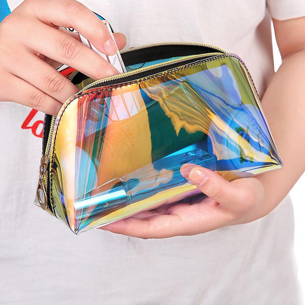 Laser Holographic Makeup Bag - Organise my makeup