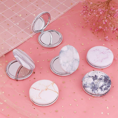 Marble Compact Double Sided Pocket Mirror - Organise my makeup